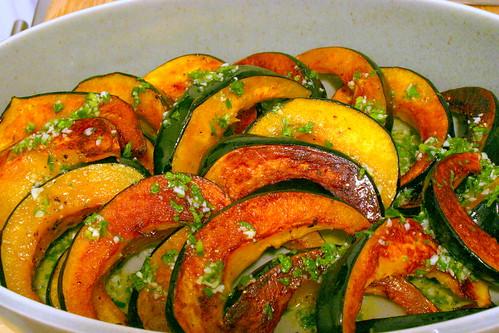 acorn squash, chile lime vinaigrette
