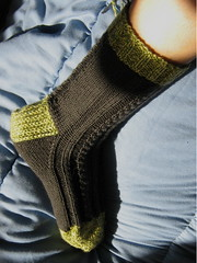 side view of mom sock #1