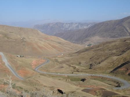 Road from Osh to Sary-Tash, Krgyzstan