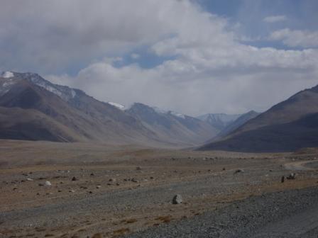 View from the road from Murgab, Tajikistan to Khorog, Tajikistan