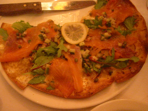smoked salmon flatbread