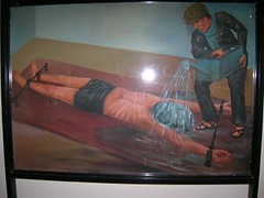 Waterboarding image from Tuol Sleng Prison, Phenom Penh, Cambodia