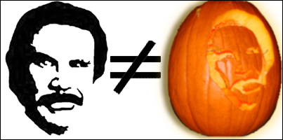 Ron Burgundy pumpkin