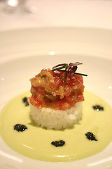 Tartare of Tuna on Sushi Rice with Avocado