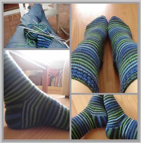 Blue & green socks