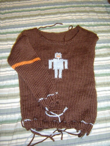 robot sweater with sleeve