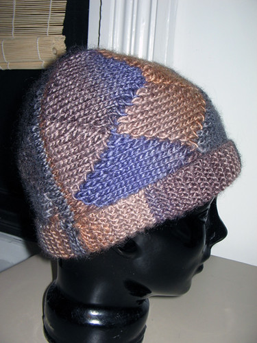 short row hat seam