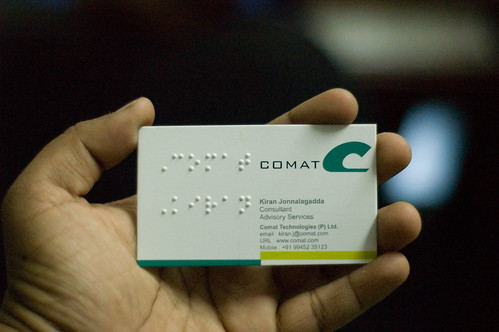 Braille-embossed card