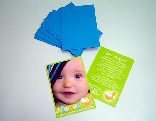 Cartões de Agradecimento Tema Fundo do Mar