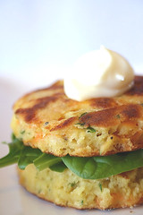 Carrot and Chermoula Fritters with Garlic Mayonaise