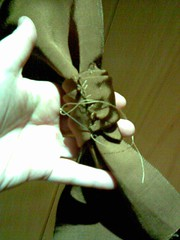 stitching of bow