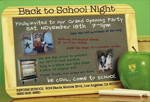 Reform School GRAND opening