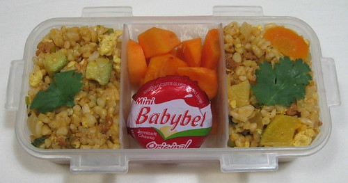Mexican fried rice lunch for toddler