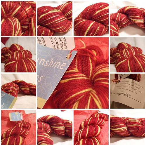 Sunshine Yarns Gryffindor Sock Yarn