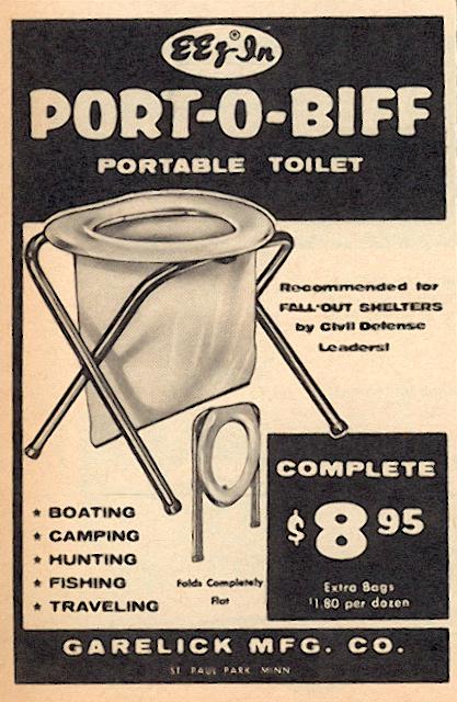 Port-O-Biff toilet ad