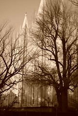 Temple Square in Sepia