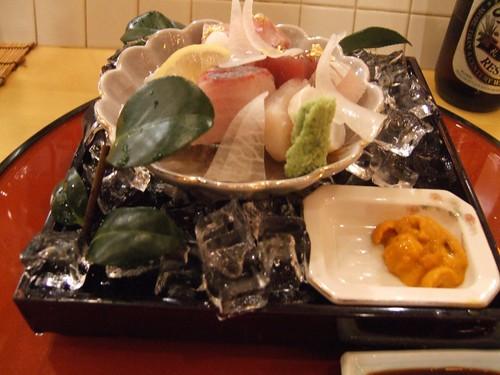Sugiyama (New York) - Sashimi - Toro, Bluefin, Kampachi, Octopus, Tai, Scallop, & Maine Uni