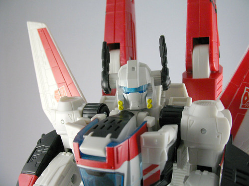 Classics Jetfire with battle helmet on