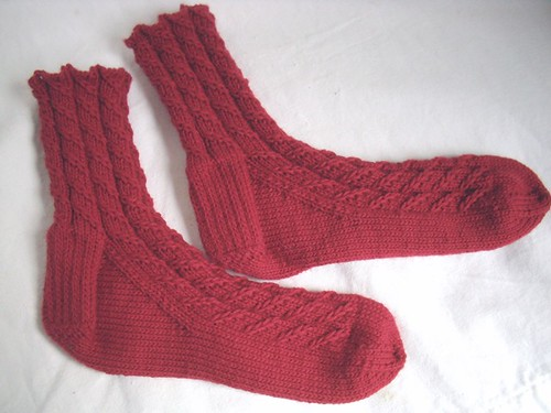 cable twist socks without feet