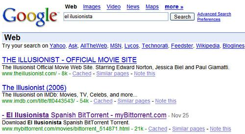 les pel·lícules, el google i BitTorrent