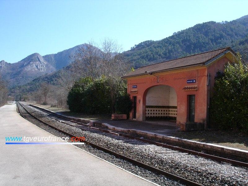 La gare de Sospel - Direction Breil-sur-Roya