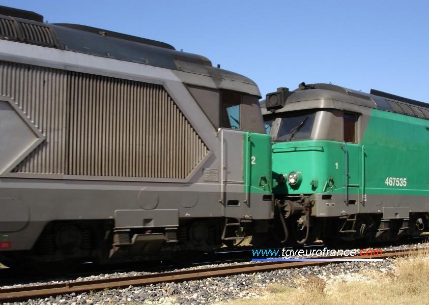 La BB 67539 avec sa grille-flèche apparente