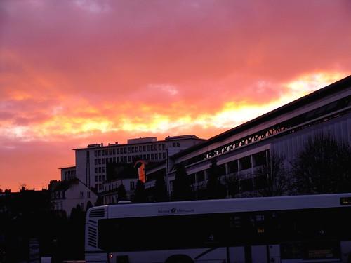 Couché de soleil sur Nantes
