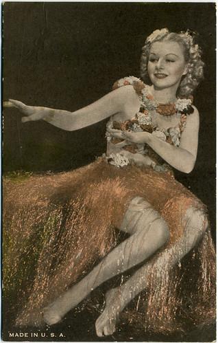 Postcard: Hula Blonde Starlet