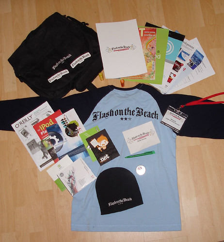 Free goodies from FOTB - a t-shirt, a bag and loads of other stuff