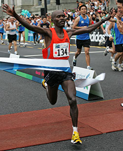 Amos Tirop Matui of Kenya who came first @ 2:14:59