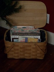 Basket of Chrismas books