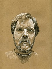 self portrait on brown paper photo by paul heaston