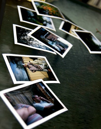 scattered polaroids