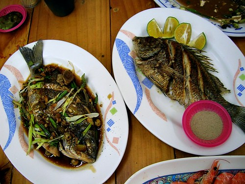 布袋觀光魚市 - 兩尾黑鯛不同料理方式