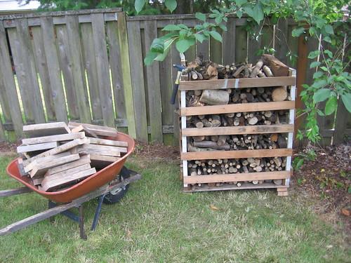 Full firewood bin