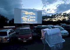 Cape Cod: Drive-In Movie Theater at Wellfleet, 8:29pm photo by Chris Seufert