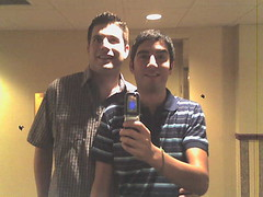 Me and Lukas at the Hotel