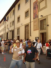Depan Galleria dell' Accademia, Florence, Italy