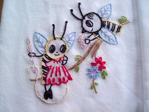 more cute little bees