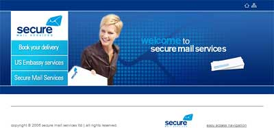 SecureMail homepage