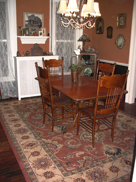 Dining room, with new rug