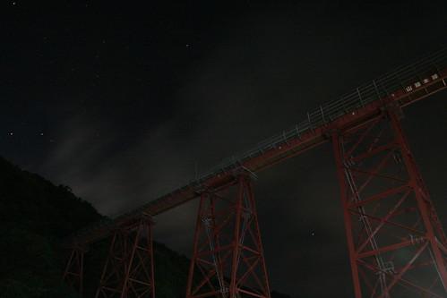 餘部橋樑夜景