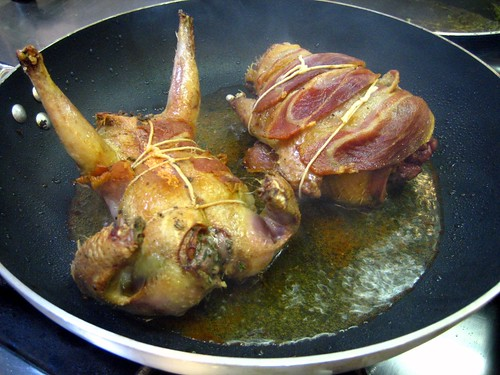Pancetta Wrapped Pigeon Stuffed w- Sage