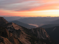 Darrington and North Cascades at Sunrise from 3 Fingers
