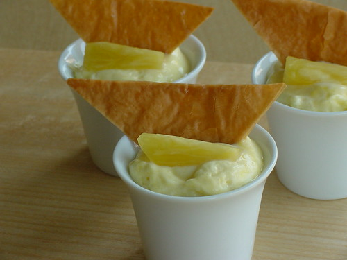Caramelized Pineapple Mousse