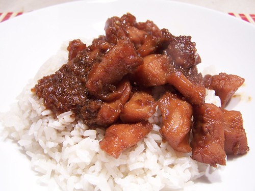 Bourbon Chicken over Rice