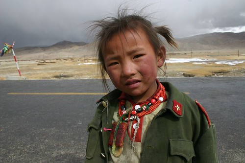 Tibetan (guerilla?) girl in Namru village...