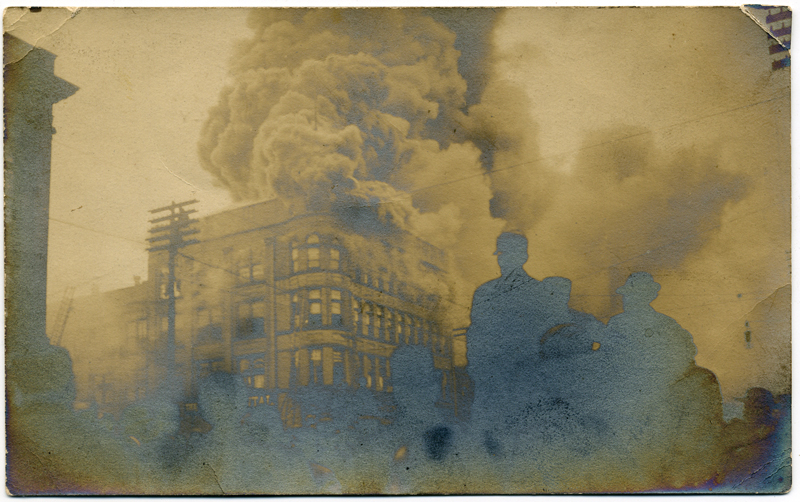 Postcard:  Hotel Fire