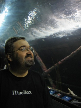 Me in San Francisco at the Aquarium of the Bay 2