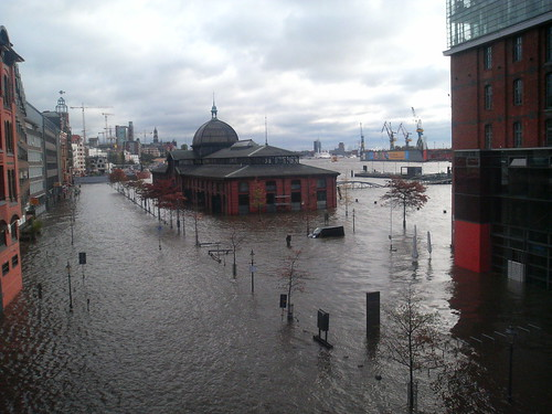 Hamburg, flooded.